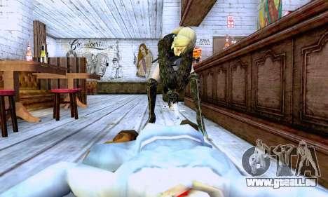Das blonde Mädchen in schwarzer Kleidung für GTA San Andreas sechsten Screenshot