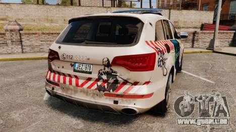 Audi Q7 FCK PLC [ELS] pour GTA 4 Vue arrière de la gauche