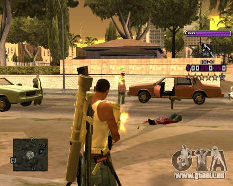 C-HUD Lite v3.0 pour GTA San Andreas deuxième écran