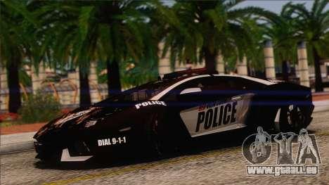 Lamborghini Aventador LP 700-4 Police pour GTA San Andreas vue de côté