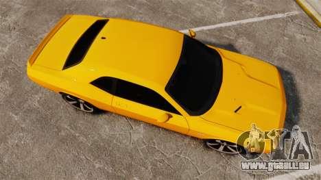 Dodge Challenger SRT8 2012 pour GTA 4 est un droit