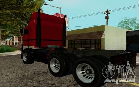 JoBuilt Transporteur Fixet из GTA 5 pour GTA San Andreas laissé vue