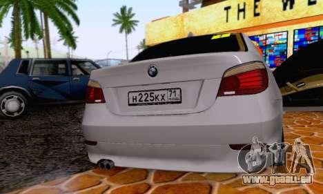 BMW 530xd pour GTA San Andreas vue intérieure