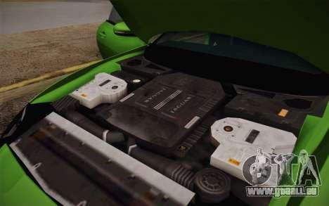Jaguar XKR-S GT 2013 für GTA San Andreas obere Ansicht