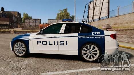 BMW F30 328i Finnish Police [ELS] pour GTA 4 est une gauche