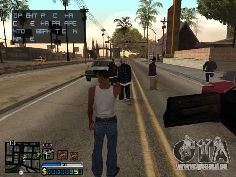 C-HUD By Stafford für GTA San Andreas zweiten Screenshot