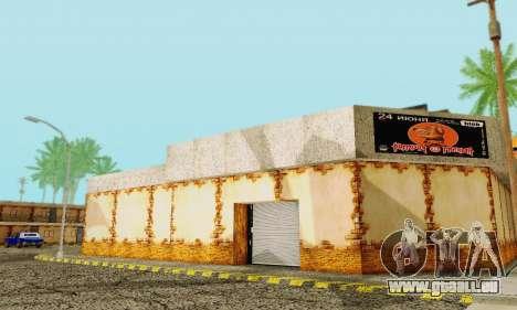 La nouvelle texture de pizzerias et les services pour GTA San Andreas troisième écran