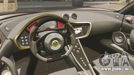 Lotus Evora GTE Mansory pour GTA 4 est une vue de l'intérieur