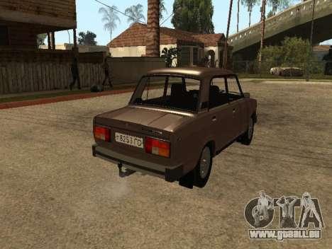 VAZ 2105 de la première version pour GTA San Andreas sur la vue arrière gauche