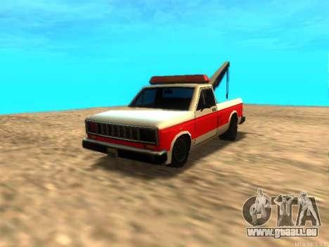 Nouvelle Remorque (Bobcat) pour GTA San Andreas laissé vue