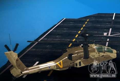 AH-64 Longbow Apache für GTA San Andreas linke Ansicht