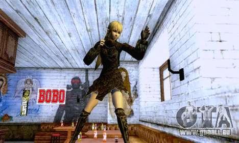 Das blonde Mädchen in schwarzer Kleidung für GTA San Andreas siebten Screenshot