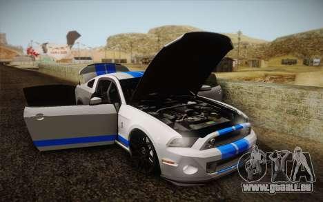 Ford Shelby GT500 2013 pour GTA San Andreas vue intérieure