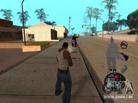 C-HUD Ballas pour GTA San Andreas quatrième écran