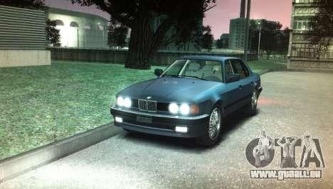 BMW 735iL e32 pour GTA 4 est un droit