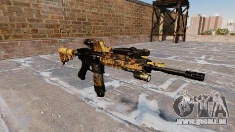 Fusil automatique Colt M4A1 Automne Camos pour GTA 4