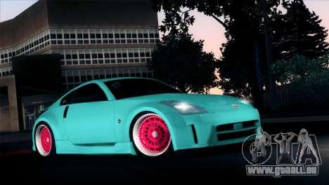 Nissan 350Z Minty Fresh pour GTA San Andreas vue intérieure