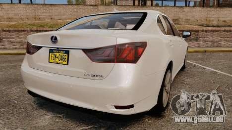 Lexus GS 300h pour GTA 4 Vue arrière de la gauche