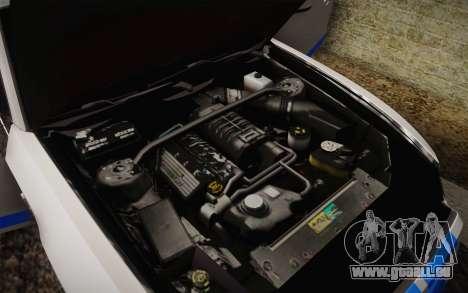 Ford Shelby GT500 2013 pour GTA San Andreas vue de dessus
