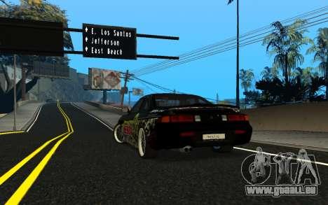 Nissan Silvia S14 Monster Energy KENDA Tire für GTA San Andreas zurück linke Ansicht
