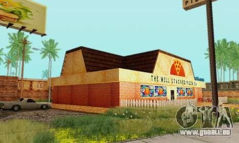 La nouvelle texture de pizzerias et les services pour GTA San Andreas huitième écran