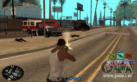 C-HUD Rainbow pour GTA San Andreas cinquième écran