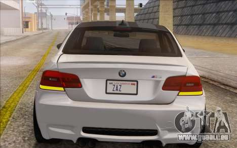 BMW M3 E92 2008 pour GTA San Andreas vue arrière