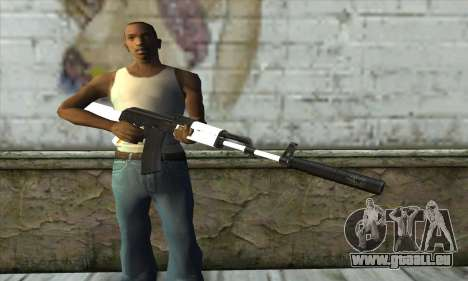Golden AK47 pour GTA San Andreas troisième écran
