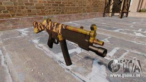 Die Maschinenpistole HK MP5 Fallen Camos für GTA 4