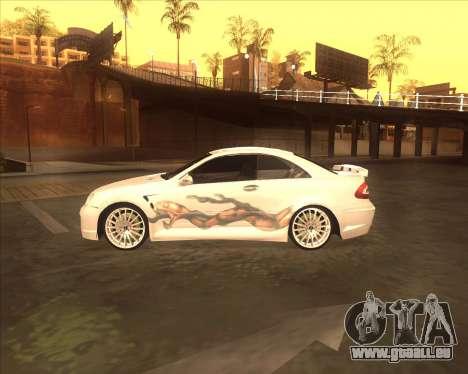 Mercedes CLK 500 из NFS most Wanted pour GTA San Andreas sur la vue arrière gauche
