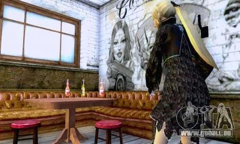Das blonde Mädchen in schwarzer Kleidung für GTA San Andreas her Screenshot