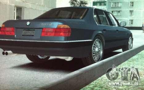 BMW 735iL e32 pour GTA 4 Vue arrière de la gauche