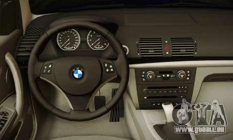 BMW 120i SE Carabinieri pour GTA San Andreas vue arrière