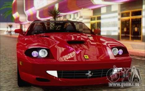 Ferrari 550 Barchetta pour GTA San Andreas sur la vue arrière gauche