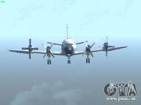 Lockheed P-3 Orion FAJ pour GTA San Andreas vue intérieure