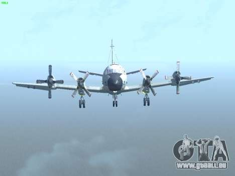Lockheed P-3 Orion FAJ für GTA San Andreas Innenansicht