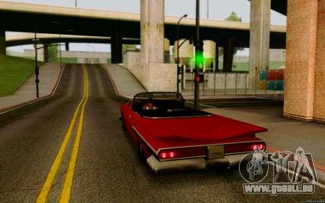Voodoo Convertible (version sans feux) pour GTA San Andreas laissé vue