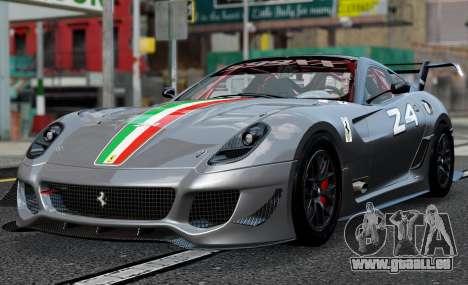 Ferrari 599xx Evoluzione pour GTA 4 Vue arrière de la gauche