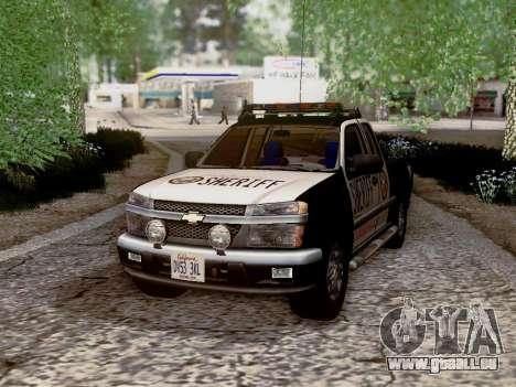 Chevrolet Colorado Sheriff pour GTA San Andreas vue de dessous