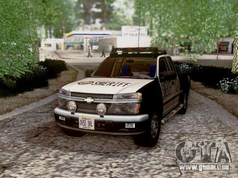 Chevrolet Colorado Sheriff für GTA San Andreas Unteransicht