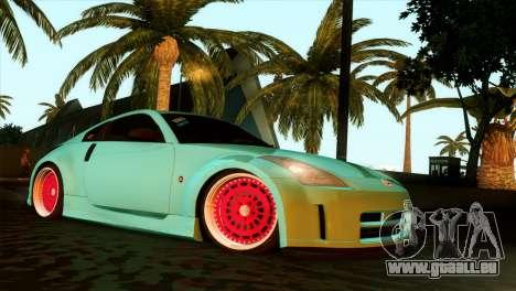 Nissan 350Z Minty Fresh für GTA San Andreas Rückansicht