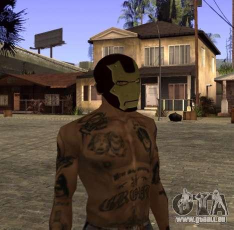 Masque d'Iron Man pour les CJ pour GTA San Andreas