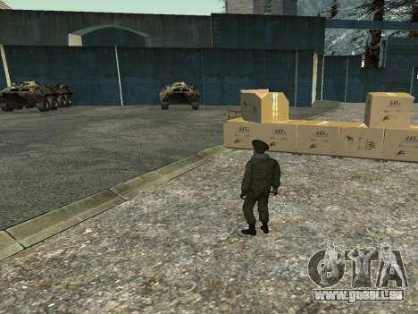 Le Lieutenant-Colonel de l'armée intérieure pour GTA San Andreas quatrième écran