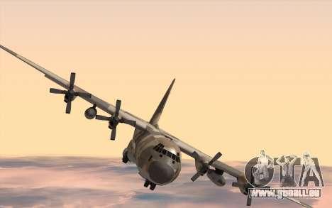 C-130H Hercules für GTA San Andreas zurück linke Ansicht