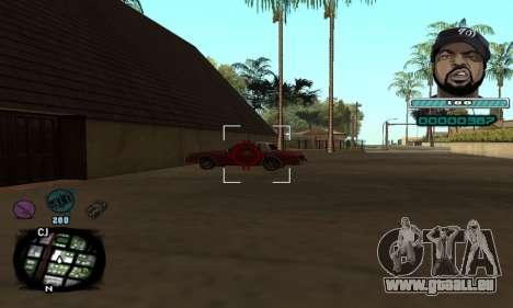 C-HUD Ice Cube pour GTA San Andreas troisième écran