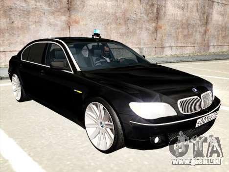 BMW 760Li für GTA San Andreas Unteransicht