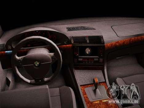 BMW 730d E38 1999 für GTA San Andreas Rückansicht