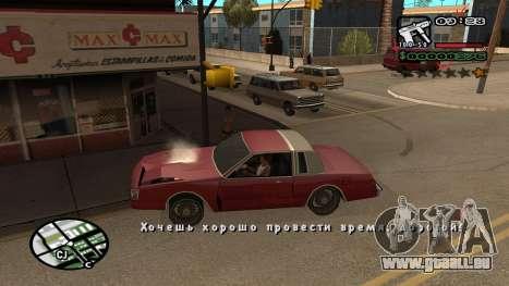 Nouvelle police V.3 pour GTA San Andreas pour GTA San Andreas deuxième écran