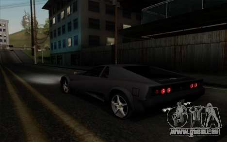 Cheetah v2 pour GTA San Andreas vue de droite
