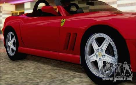 Ferrari 550 Barchetta pour GTA San Andreas vue de droite